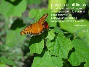 praying at all times