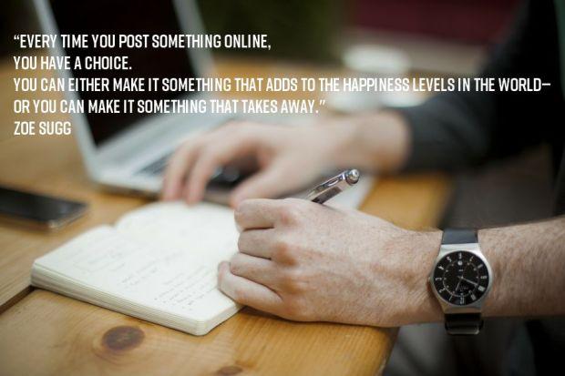 blogging quote