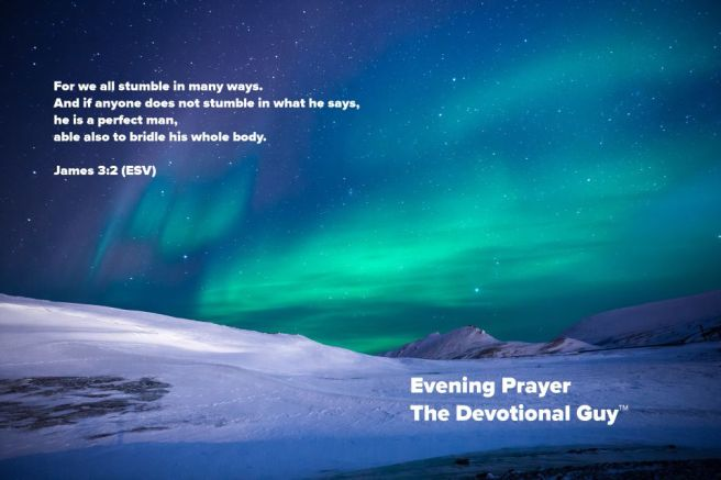 evening prayer forgive yourself