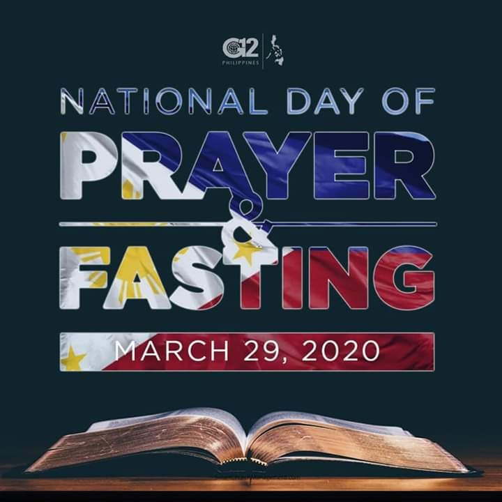 March 29 Day of Prayer and Fasting
