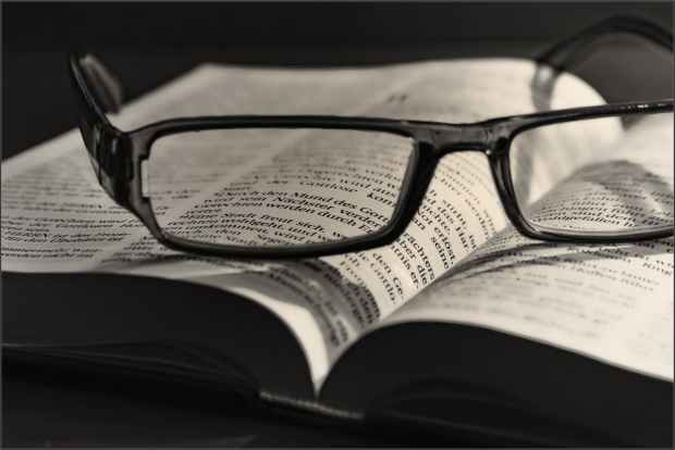 bible black and white book close up